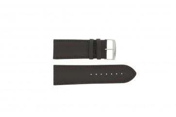 Watch strap 306.02 Leather Brown 28mm + standard stitching