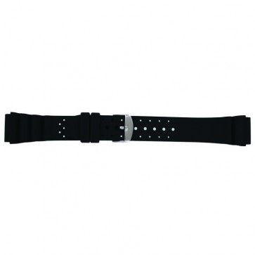 Watch strap SL100 Silicone Black 18mm