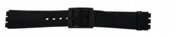 Strap for Swatch black 16mm PVK-SC15.01