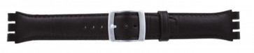 Strap for Swatch dark brown WP-51643-19mm