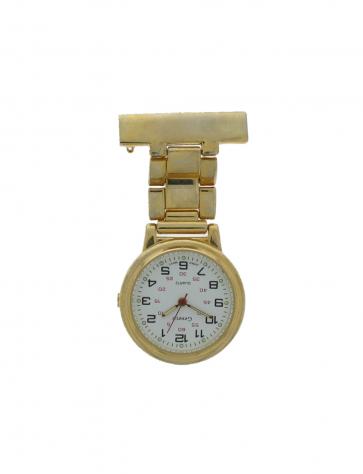 E968 unisex nurse watch Steel Gold (Doublé)