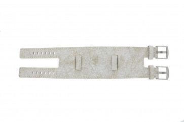 EXC watch strap K6354264 Leather White 24mm