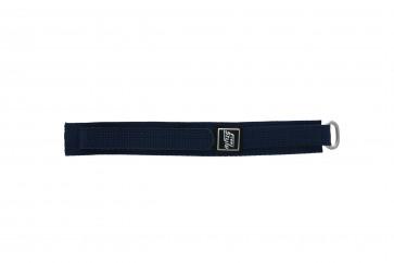 Velcro watch strap navy blue 18mm