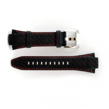 Seiko watch strap genuine leather with red stitching 7T62-0ED0 SNA633P1