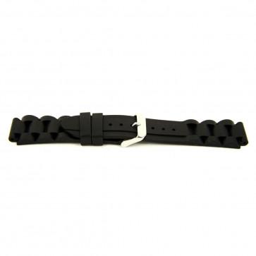 Watch strap Rubber 24mm Black EX K63 26 1 24