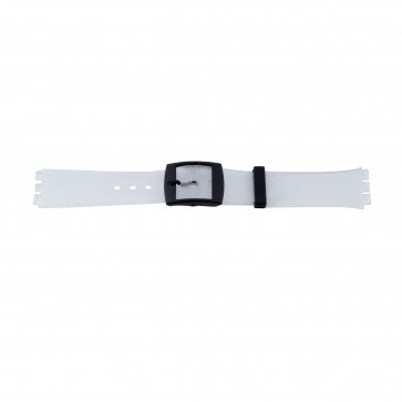 Plastic watch strap transparent for Swatch 17mm PVK-51