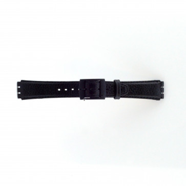 Strap appropriate to Swatch black 17mm PVK-SC04.01
