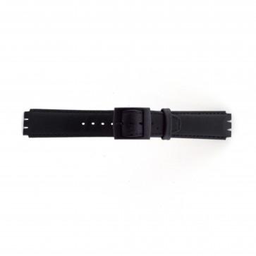 Strap for Swatch black 17mm PVK-SC11.01