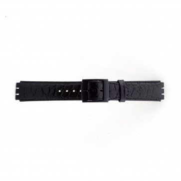 Strap for Swatch croco black 17mm PVK-SC10.01