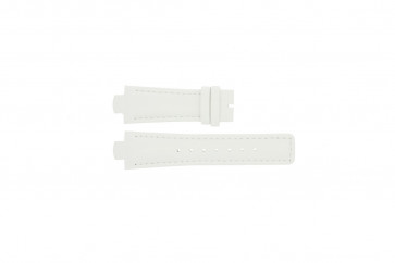 Breil watch strap TW0394 / F660012788 Leather White 12mm + white stitching
