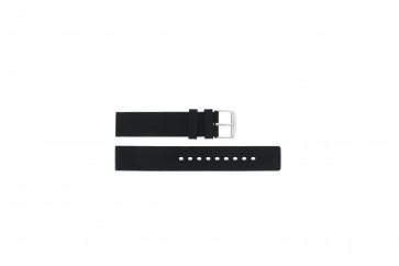 Watch strap 6826 Silicone Black 20mm