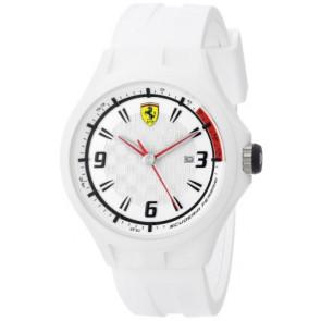Ferrari watch strap SF101.1 / 0830003 / SF689309000 / Scuderia Rubber White 22mm