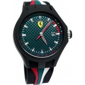 Ferrari watch strap SF101.5 / 0830070 / SF689300050 Rubber Black 22mm