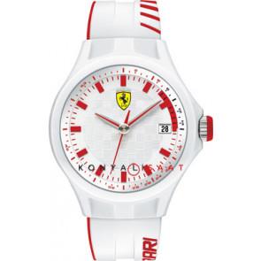 Ferrari watch strap SF101.6 / 0830127 / SF689300079 / Scuderia Rubber White 22mm