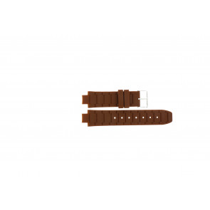 Jacques Lemans watch strap 1-1696 / BK-2892 Silicone Brown 12mm