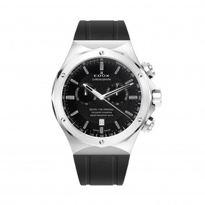 Edox watch strap 10107-RUB Rubber Black