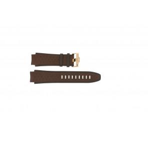 Watch strap Jacques Lemans 1378E Leather Brown 20mm