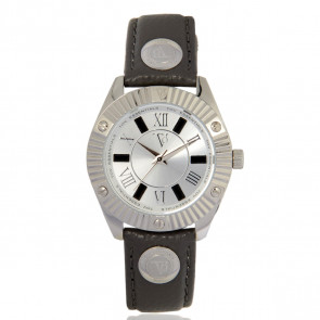 TOV Essentials watch strap 1460 / TOV Leather Grey 18mm + grey stitching