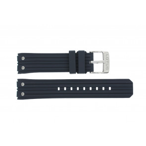 Lotus style watch strap 15969-2 Rubber / plastic Blue 23mm