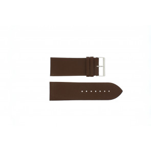 Other brand watch strap Pebro 169-30 Leather Brown 30mm