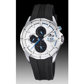 Lotus watch strap 18320/1 Silicone Black