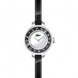 Lacoste watch strap LC-15-3-14-0084 / 2000391 Leather Black 6mm + black stitching