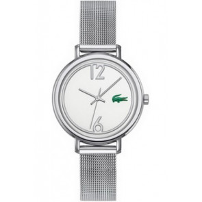 Lacoste watch strap 2000538 / LC-33-3-14-2200 Metal Silver 14mm