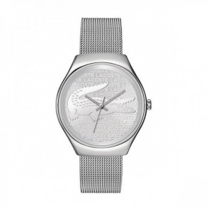 Lacoste watch strap 2000810 / LC-71-3-14-2469 Metal Silver 18mm
