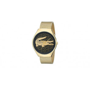 Lacoste watch strap 2000873 / LC-71-3-34-2470 Metal Gold plated 18mm