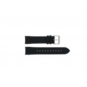 Hugo Boss watch strap HB-232-1-27-2731 / HB1513087 Leather Black 22mm + black stitching