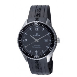 Edox watch strap 267961 / 70158 Rubber Black