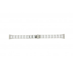 Boccia watch strap 3261-01 Steel/Silicone Silver 16mm