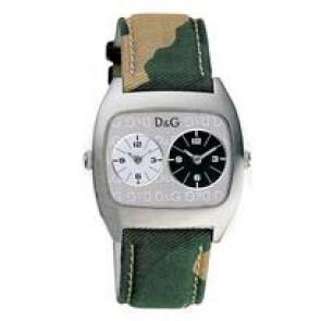 Dolce & Gabbana watch strap 3719240255 Leather/Textiles Green 22mm + beige stitching