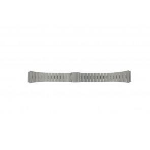 Watch strap 41020-1-18 Metal Silver 18mm