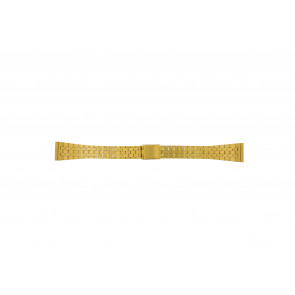 Watch strap 42522.5.16 Metal Gold plated 16mm