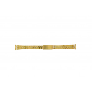 Watch strap 42539-1-14 Metal Gold plated 14mm