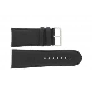 Watch strap 61215B.10.28 Leather Black 28mm + default stitching