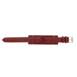 Watch strap 61325.45.16 Leather Red 16mm + red stitching