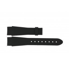 Edox watch strap 62005ZW Rubber Black 17mm