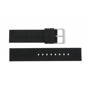 Hugo Boss watch strap 659302252 / HB.116.1.29.2267 / 1512543 Rubber Black 22mm