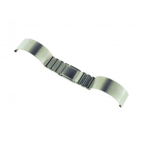 Watch strap Spange 16ST Metal Silver 16mm