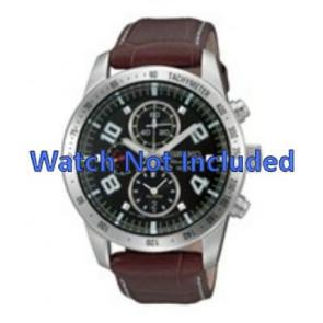 Seiko watch strap 7T62-0HX0 / SNAC11P1 / 4A332JL  Leather Brown 21mm + white stitching