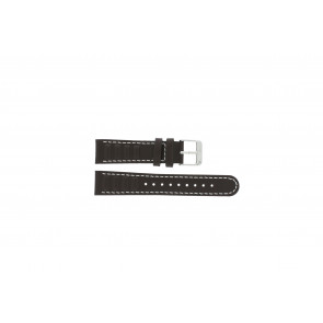 Olympic watch strap 89JAL004 Leather Brown 18mm + white stitching