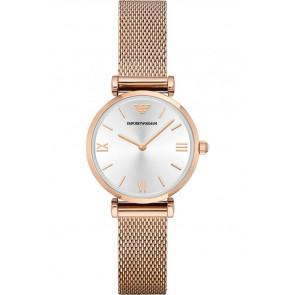 Watch strap Armani AR1956 Steel Rosé