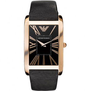 Armani watch strap AR2034 Leather Black 23mm