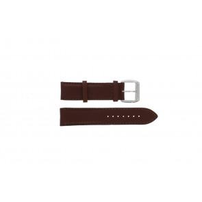 Davis watch strap BB0231 Leather Dark brown 21mm + brown stitching