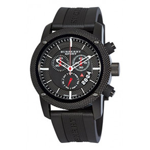 Watch strap Burberry BU7701 Silicone Black