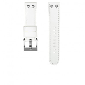 TW Steel watch strap CEB108 Leather White 22mm + white stitching