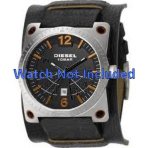 Diesel watch strap DZ1212 Leather Black 28mm + default stitching