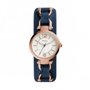 Watch strap Fossil ES3857 Leather Blue